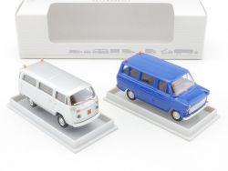 Brekina Schulbus Set VW T1 Bus Bully Ford Transit 1:87 NEU  OVP