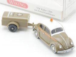 Wiking 003001 VW Käfer 1200 mit Einachsanhänger 1/87 NEU! OVP
