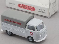 Wiking 031602 VW T2 mit Plane Amazone Modellauto 1:87 NEU! OVP