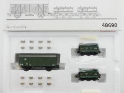 Märklin 48690 Wagen-Set Gleiswaagen-Eichzug Klappdeckel NEU! OVP