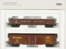 Märklin 4860 Güterwagen-Set Alaska USA Blechwagen Box Car NEU OVP