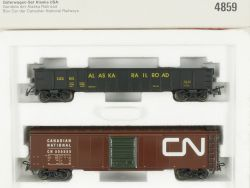 Märklin 4859 Güterwagen-Set Alaska USA Blechwagen Box Car NEU OVP