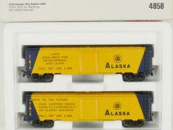 Märklin 4858 Güterwagen-Set Alaska USA US Blech zu 3663 NEU OVP OVP