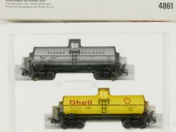 Märklin 4861 Güterwagen-Set Alaska USA Blech Shell Kesselwagen OVP