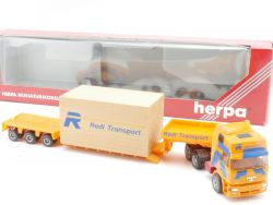 Herpa 147040 MAN Spedition Redl Transport Goldhofer Tieflader OVP