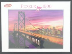 Puzzle San Francisco Skyline Golden Gate Bridge 1500 Teile NEU OVP