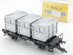 Trix 3666 International Güterwagen Behälterwagen DB H0 NEU! OVP
