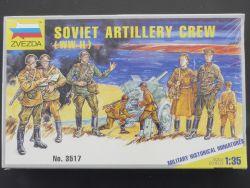 Zvezda 3517 Russische Geschützmannschaft WW2 1:35 NEU! OVP