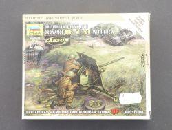 Zvezda 6169 Panzerabwehr Geschüz QF 2 PDR Figuren  OVP