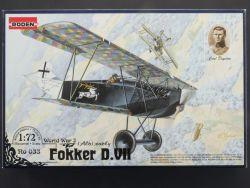 Roden 033 Fokker D.VII Jagdflugzeug Frühe Version 1:72 sealed OVP