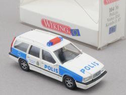Wiking 10406 Volvo 850 Kombi Polizei Polis Schweden 1:87 NEU OVP
