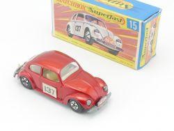 Matchbox 15 A Superfast VW 1500 Käfer Saloon Near MIB Box OVP