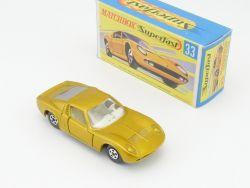 Matchbox 33 A Superfast Lamborghini Miura P400 mint MIB Box OVP