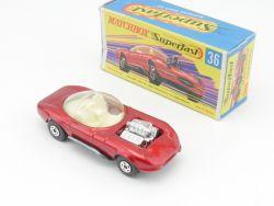 Matchbox 36 B Superfast Hot Rod Draguar nearest mint model OVP