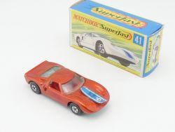 Matchbox 41 A Superfast Ford GT green base N-MIB near mint OVP