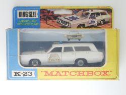 Matchbox K-23 King Size Mercury Police Car Commuter Lesney OVP