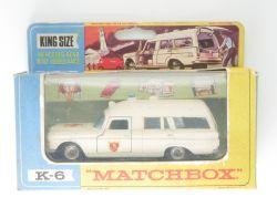 Matchbox K-6 King Size Mercedes Benz Binz Ambulance Lesney OVP