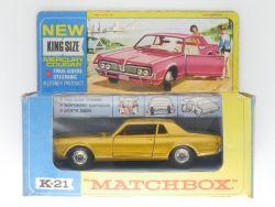 Matchbox K-21 King Size Mercury Cougar Steering  Near MIB  OVP