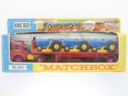 Matchbox K-20 King Size Tractor Transporter Lesney  Box OVP