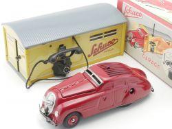 Schuco 01070 Garage 1080 mit Kommandoauto 2000 Blech Uhrwerk OVP