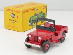 Dinky Toys 405 Universal Jeep ex 25y near mint in box N-MIB! OVP