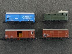 Schnäppchen! Konvolut 4x GüterwagenMinitrix 3267 3253 3254