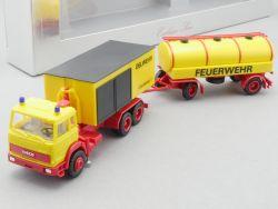 Herpa Iveco Oelwehr Feuerwehr Hängerzug Container NEU RAR OVP