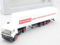 Herpa MB Sondermodell Firestone High-Tech-Reifen LKW SZ NEU! OVP