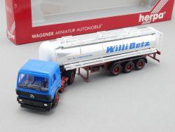 Herpa 826110 MB Lebensmittel Tankwagen Sattelzug Willi Betz  OVP