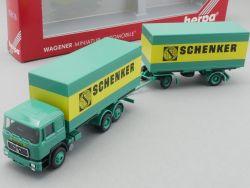 Herpa 859179 MAN F90 Hängerzug Schenker Spedition NEU! OVP