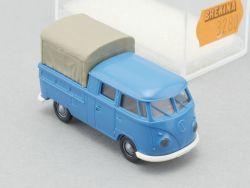 Brekina 3280 VW T1 Bus DoKa Pritschenwagen Plane 1:87 NEU OVP