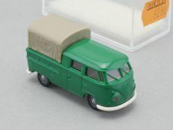 Brekina 3280 VW T1 DoKa Pritschenwagen Plane grün 1:87 NEU OVP