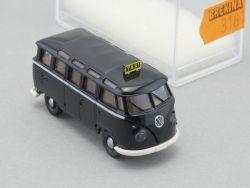 Brekina 3181 VW T1 Samba Bus Taxi schwarz Modellauto NEU! OVP