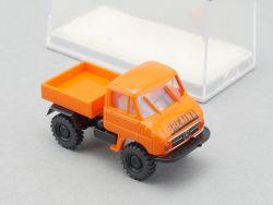 Brekina MB Unimog Preisausschreiben Sondermodell orange NEU OVP