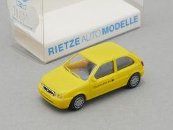 Rietze 30800 Ford Fiesta Deutsche Post AG gelb Modellauto NEU OVP