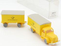 IMU 20019 MB L5000 Deutsche Post Hängerzug Begutachtungsmodell OVP