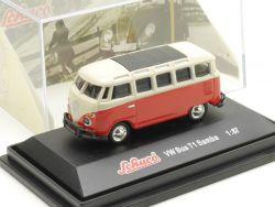 Schuco Volkswagen VW T1 Samba-Bus Werbemodell Vitrine OVP