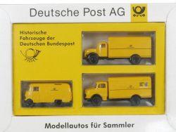 Brekina Serie 5 Historische Fahrzeuge Bundespost Post MB NEU OVP