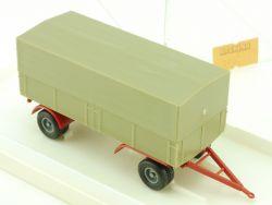 Brekina 5521 2-achsiger Anhänger Pritsche Plane für LKW H0 OVP