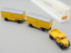 Brekina 4252 Magirus Mercur Dt. Bundespost DBP 2x Anhänger NEU! OVP
