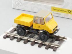 Brekina 010603 MB Unimog 421 auf Schienen Deutsche Post NEU! OVP