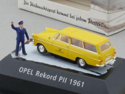 Brekina 010460 Opel Rekord PII Vitrine PC Deutsche Post NEU! OVP