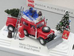 Busch 7659 Merry Christmas X Off-Road Express Diorama NEU! OVP