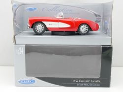 Welly 9393W Chevrolet Corvette Chevy 1957 Cabrio Coupe 1:24 OVP
