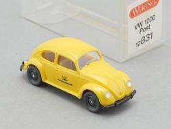 Wiking 12831 VW 1200 Brezelkäfer Käfer DBP Bundespost NEU! OVP ST