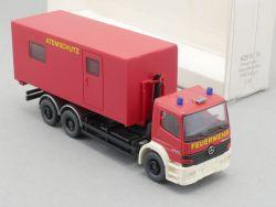 Wiking 6250138 MB Mercedes Feuerwehr Abrollbehälter 1:87 NEU OVP