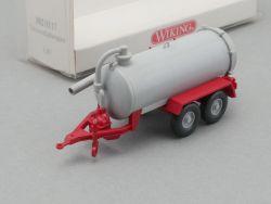 Wiking 3820117 Vakuumfaßwagen Anhänger grau rot NEU 1/87 OVP