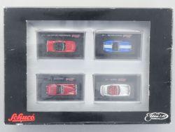 Schuco 9655 Set 4x Roadster H0 Metall Cabrio Porsche Jaguar OVP