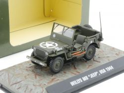 Atlas 7123101 Willys MB Jeep Military US Army 1944 1:43 NEU OVP