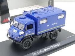 Schuco 03392 MB Unimog 404 S THW Werkstatt Herne 1:43 NEU! OVP